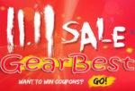 Крупная распродажа 11.11 2018 в интернет-магазине GearBest приближается!